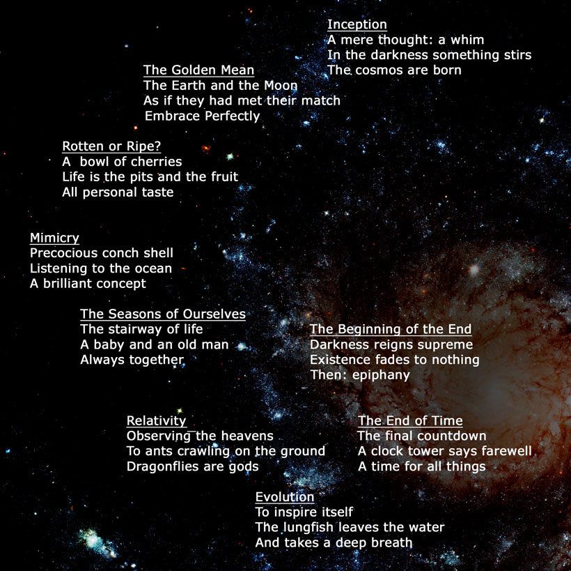 The Universe In Words by Matthew King