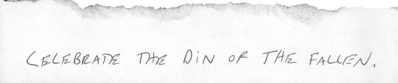 Celebrate the din